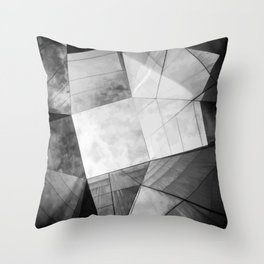 Black and White Cubism Throw Pillow