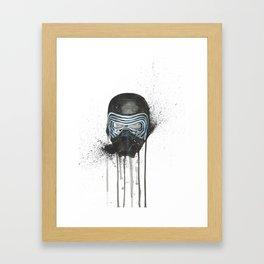 Kylo Ren - Empty Mask Framed Art Print
