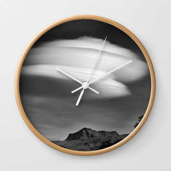 Lenticular Over Alcazaba 3315 Meters Wall Clock