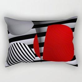 red-white-black -5- Rectangular Pillow