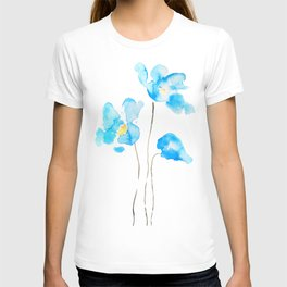 abstract Himalayan poppy flower watercolor T-shirt
