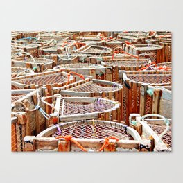 Traditional Lobster Traps Canvas Print