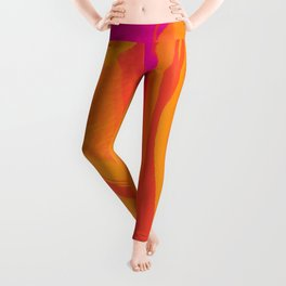 The Abstract Fire Flora Leggings