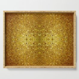 Deep gold glass mosaic Serving Tray
