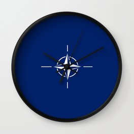 flag of nato Wall Clock