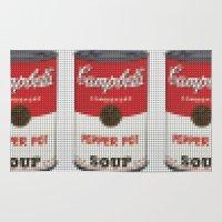 pantone Area & Throw Rugs featuring Warhol Soup Pantone Pop by Stuff.