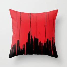 Paint it Red Throw Pillow