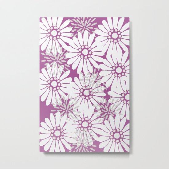 Summer Flowers Purple Metal Print