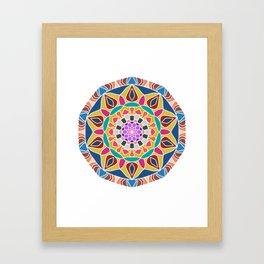 Mandala core Framed Art Print