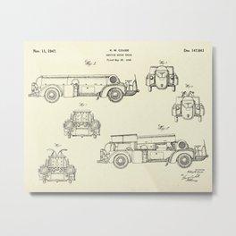 Service Motor Truck-1947 Metal Print