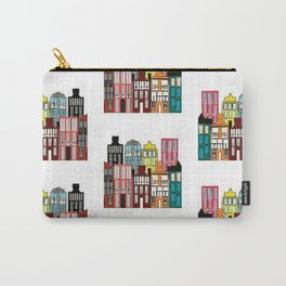 Little houses pattern Carry-All Pouch