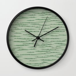 Map Collection: Countryside Wall Clock