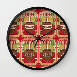 American Football Red and Gold - Enzone Puntfumbler - Hayes version Wall Clock