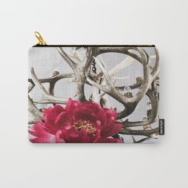 Antler Flower Carry-All Pouch