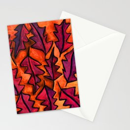 Autumn fire leaves Stationery Cards