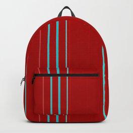 Modern Vertical Holiday Red Stripes Backpack