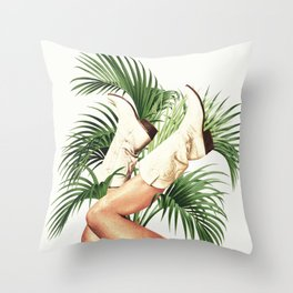 These Boots - Palm Leaves Throw Pillow