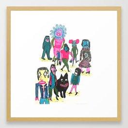 Les gens de ma ville Framed Art Print