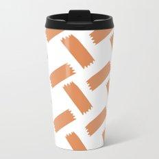 Basket Weave Metal Travel Mug