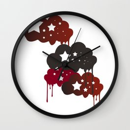 clouds and stars Wall Clock