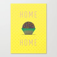 home sweet home Canvas Prints featuring HOME by Analu Louise