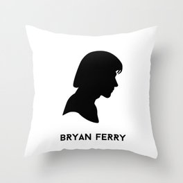 Ferry Silhouette - Bryan Ferry Throw Pillow