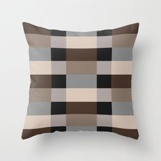 IKEA STOCKHOLM Rug Pattern - chequered, brown Throw Pillow