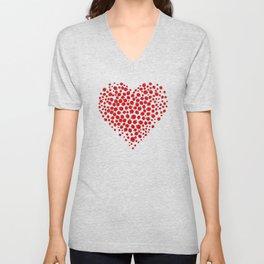 Ladybug heart Unisex V-Neck