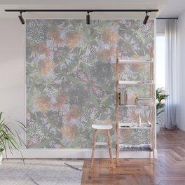 Wildflowers Square Mandala - All over Print Wall Mural