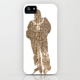 Igh Kihl Media Standing Man Logo Worn Design iPhone Case