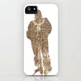 Igh Kihl Media Standing Man Logo Worn Design iPhone Case