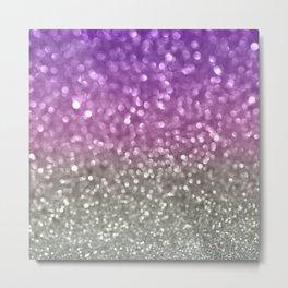 Lilac and Gray Metal Print