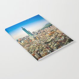 Aerial view and cityscape of Taipei, Taiwan Notebook