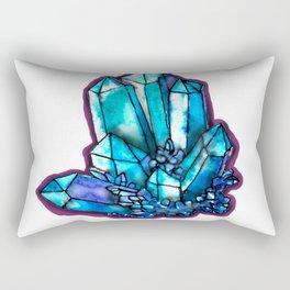 Blue Crystal Rectangular Pillow