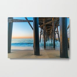 Under Seal Beach Pier Metal Print