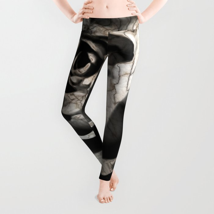 Rose forming from light and shadows Leggings