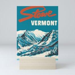Stowe, Vermont Vintage Ski Poster Mini Art Print