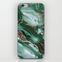 Luxury Malachite Marble Agate iPhone Skin