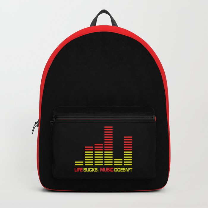 Life Sucks Music Quote Backpack By Thepatternpalace Society60 Inspiration Life Sucks Quote