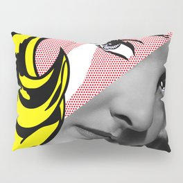 Roy Lichtenstein's Girl with Hair Ribbon & Bette Davis Pillow Sham