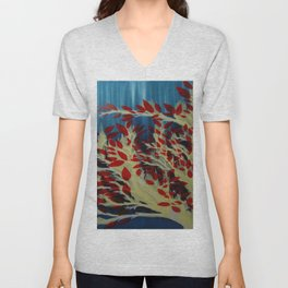 Liquid Leaves Unisex V-Neck