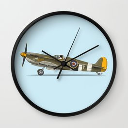 St Bernard flying his Spitfire - Dogs driving things Wall Clock