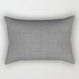 DESERT LINEN PRINT . SOLID GRAY Rectangular Pillow
