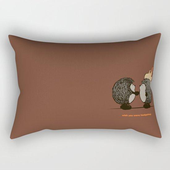 Wish you were hedgehog Rectangular Pillow