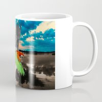 parrot Mugs featuring Parrot by Cs025