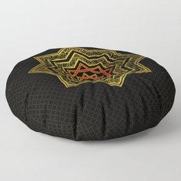 Golden Decorative Star of Lakshmi - Ashthalakshmi Floor Pillow
