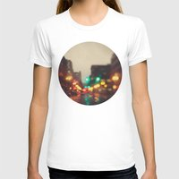 portland T-shirts featuring Portland In The Rain by Laura Ruth