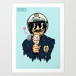 Oh Officer! Art Print