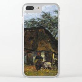 Vincent van Gogh - Farmhouse in Nuenen Clear iPhone Case