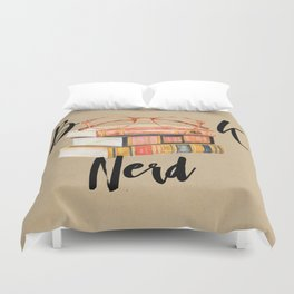 Book Nerd Duvet Cover